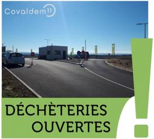 ♻ Test concluant = ouvertures reconduites de certaines déchèteries du COVALDEM pour les particuliers (déchets verts) et professionnels 🌿🍃🍂