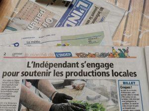 le journal l'Indépendant soutient les productions locales