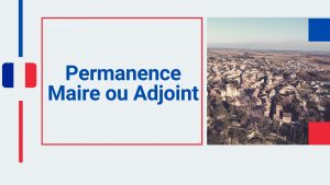 Permanence adjoint au maire
