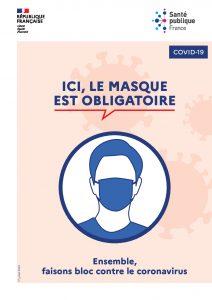 Marchés : port du masque obligatoire