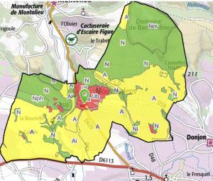 Plan local d'urbanisme disponible sur le Géoportail de l'Urbanisme