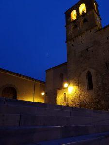 Poursuite des travaux place de l'église. Photos de nuit 🌙