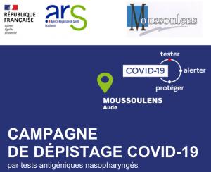 CAMPAGNE DE DÉPISTAGE COVID-19 A MOUSSOULENS