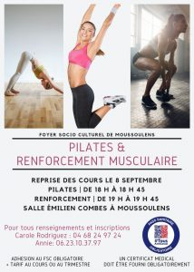Reprise Renforcement musculaire et Pilates