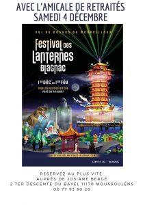 Réservez votre sortie au Festival des lanternes avec l'Amicale de retraités